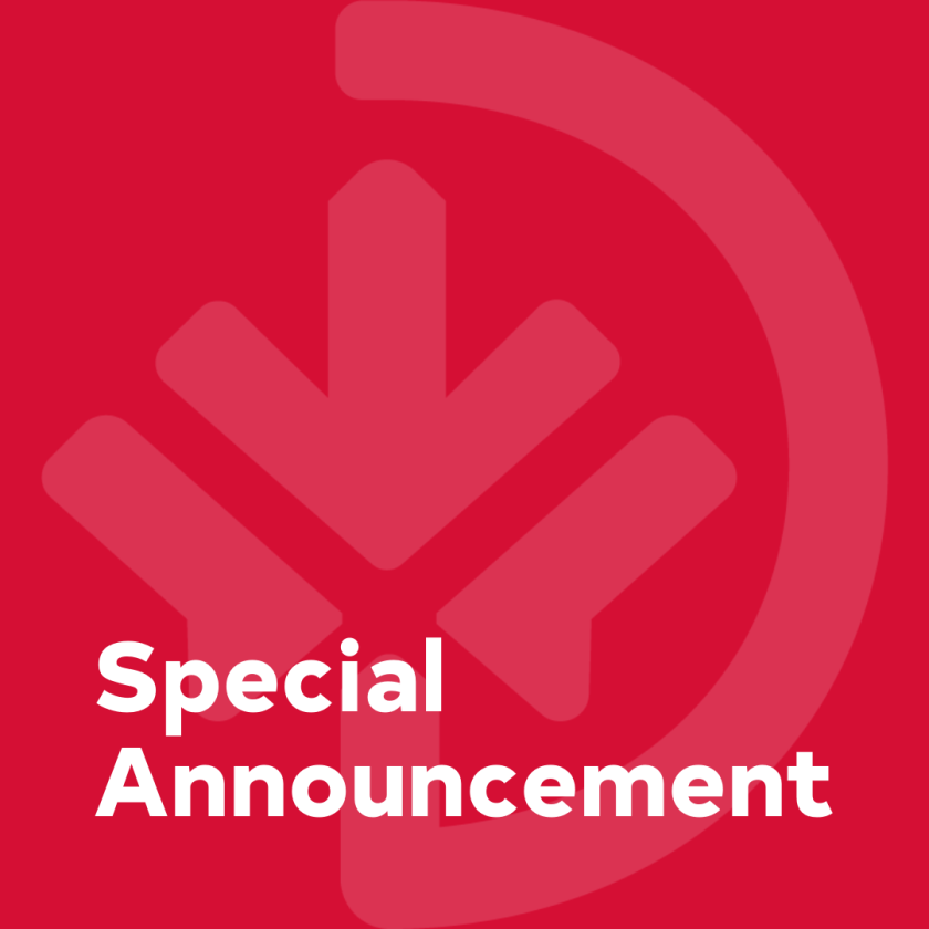 Special Announcement EN
